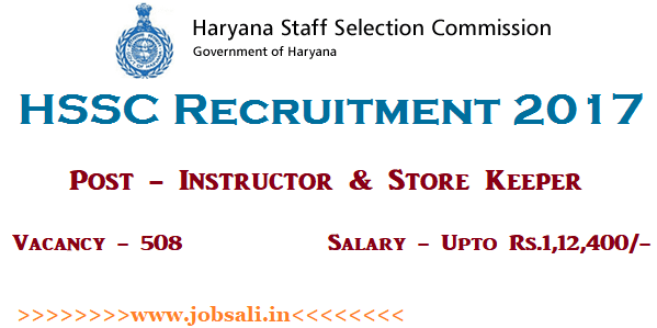 HSSC Jobs Notification, HSSC Store Keeper Recruitment, Govt jobs in Haryana