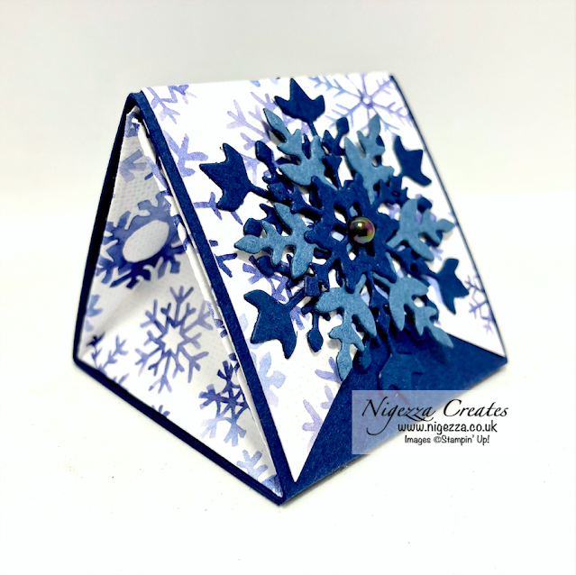 "Tutorial For 2"" x 2"" Triangle Gift Box Using Snowflake Splendour"
