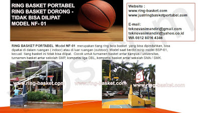 jual tiang basket portable
