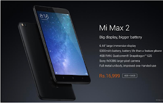 Xiaomi Mi Max 2 specs,Price in India and Launch date in India