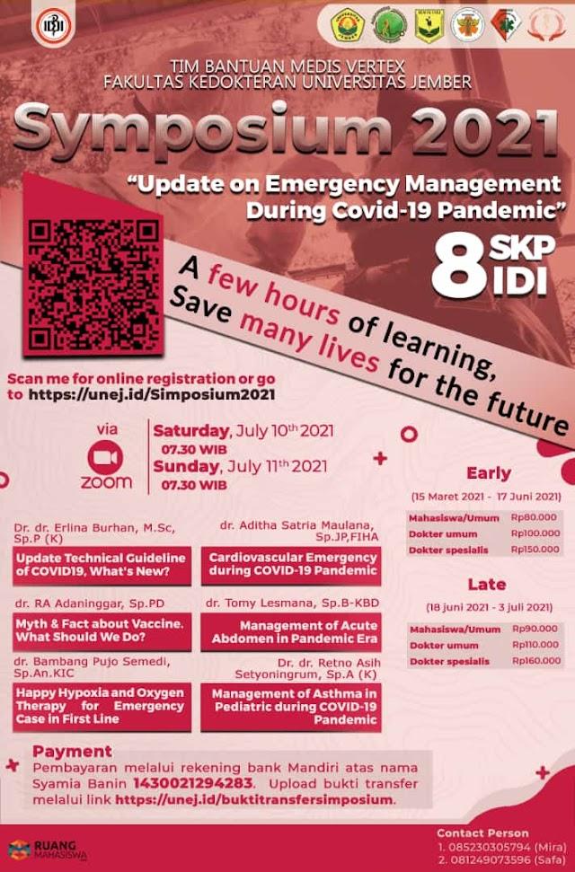 "(8 SKP IDI) SYMPOSIUM TBM VERTEX 2021 ""Update On Emergency Management During Covid-19 Pandemic"""