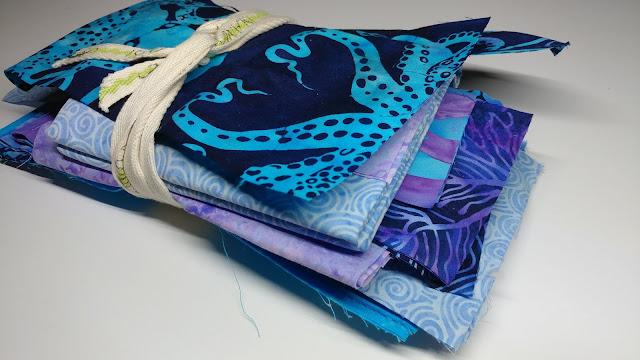 Blue Sea fabric by Island Batik