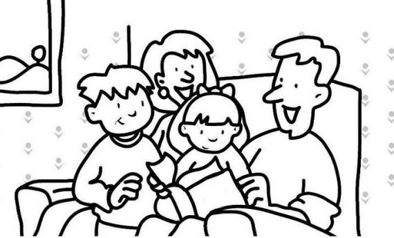 Niños Leyendo Animados Para Colorear