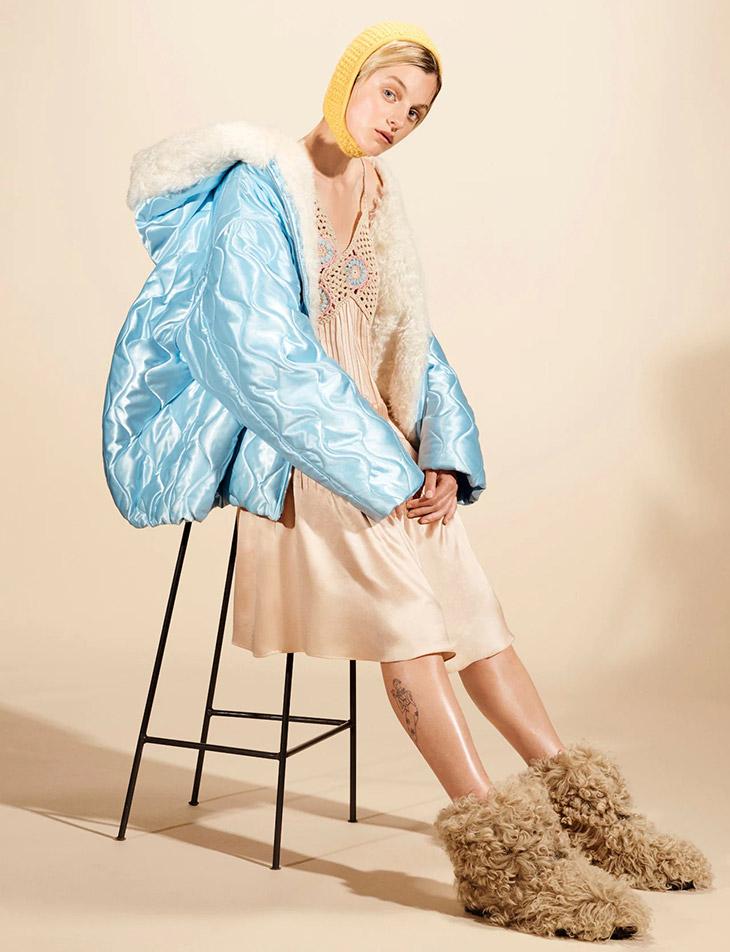 Photographer Steven Meisel captured Miu Miu's FW21 campaign featuring actress Emma Corrin
