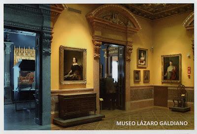 Tarjeta prefranqueada del Museo Lázaro Galdiano