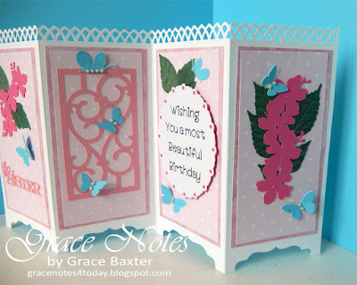 Screen b-day card, 2nd and 4th panels featured. By Grace Baxter