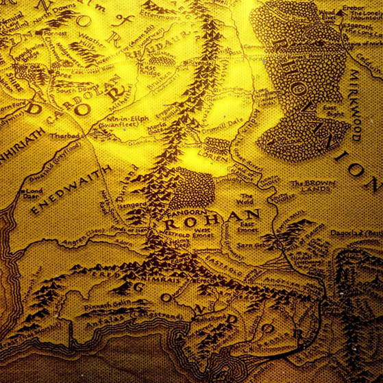 LOTR map Wallpaper Engine