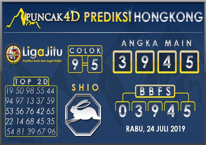PREDIKSI TOGEL HONGKONG PUNCAK4D 24 JULI 2019
