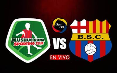 Mushuc Runa y Barcelona SC se enfrentan en vivo a partir de las 19h00 horario local, por el arranque de la fecha once del campeonato ecuatoriano, siendo emitido por el canal GolTVEcuador a efectuarse en el campo Bellavista. Con arbitraje principal de Luis Quiroz.