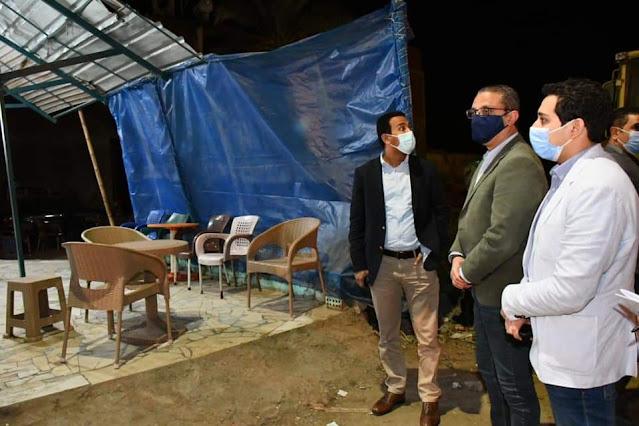 """محافظ الفيوم يوجه بغلق 8 مقاهٍ تقدم """" الشيشة"""" للمواطنين بالمخالفةبمركز إطسا"""