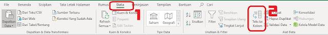 Konversi Teks ke Panduan Kolom di Excel