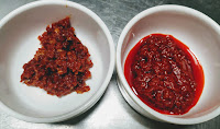 Schezwan sauce and Red Chilly Paste for chicken lollipop recipe