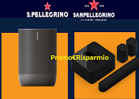 Logo Concorso SanPellegrino: vinci 30 smart speaker Move Sonos e Kit audio