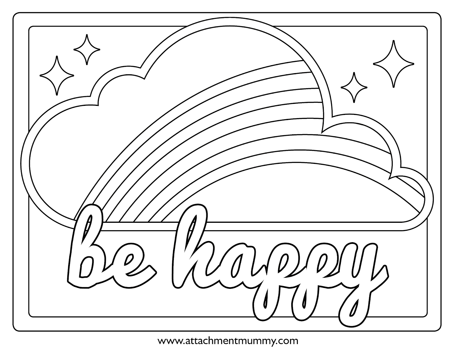 Free Rainbow Colouring Poster Printable
