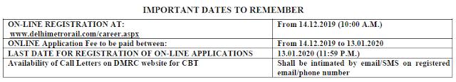 DMRC Recruitment 2019-2020 Notification