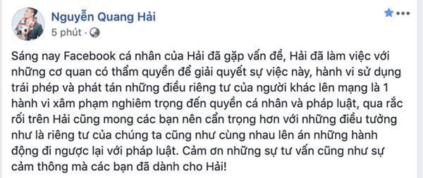 Cục an ninh mạng vào cuộc điều tra kẻ hack Facebook cầu thủ Quang Hải