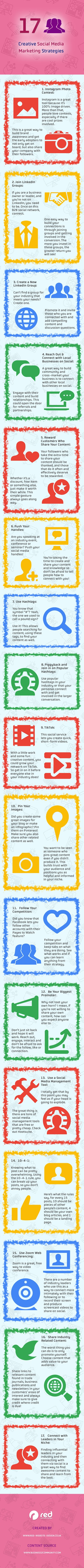17 Creative Social Media Marketing Strategies #infographic