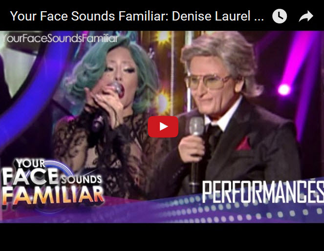 Denise Laurel Lady Gaga and Tony Bennett Duet - Your Face