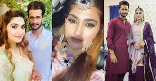 Latest Beautiful Pictures of Hassan Ali with his Wife Samiya Arzoo