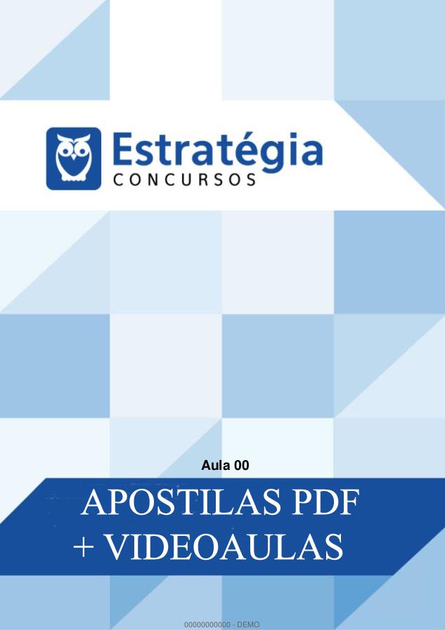 Aulas Gratuitas Para Concursos - Baixe aqui Aulas PDF Grátis para AGEPEN MG