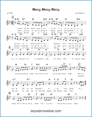 Mercy, Mercy, Mercy chords jazz standar