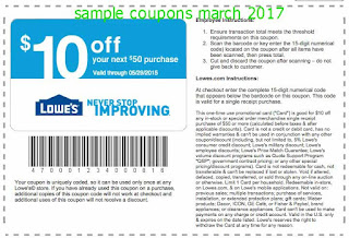 Lowes Home Improvement coupons march