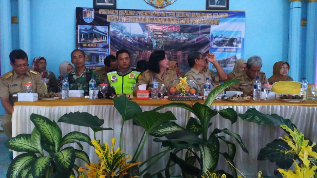 Batuud Koramil Nusawungu Hadiri Penilaian Lomba Perkembangan Desa Tingkat Kabupaten Cilacap