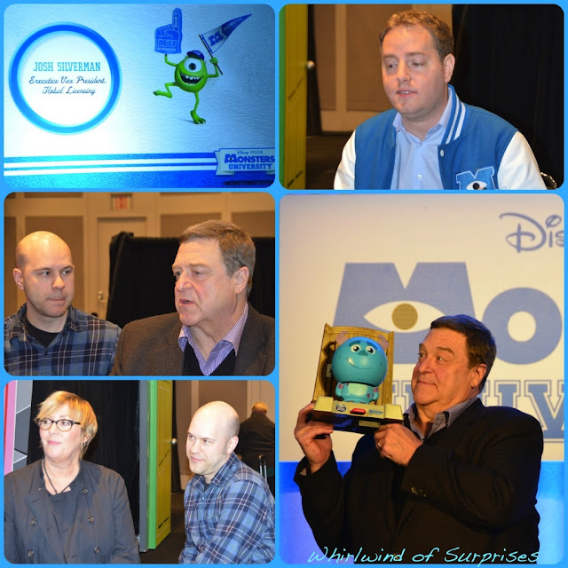 John Goodman, Josh Silverman, Dan Scanlon, Kori Rae, #MonstersUToyFair Press event