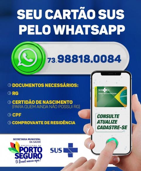 Emissão e atualização do cartão sus pelo whatsapp