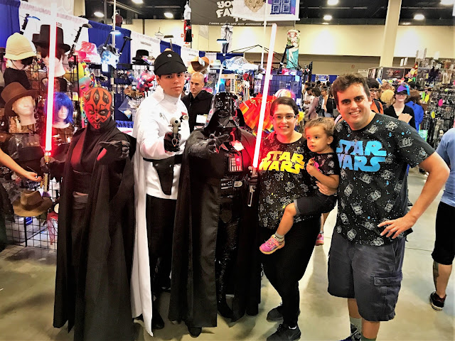 Darth Maul, some guy who works for the emperor, Darth Vader, Leia, me, and Looey.