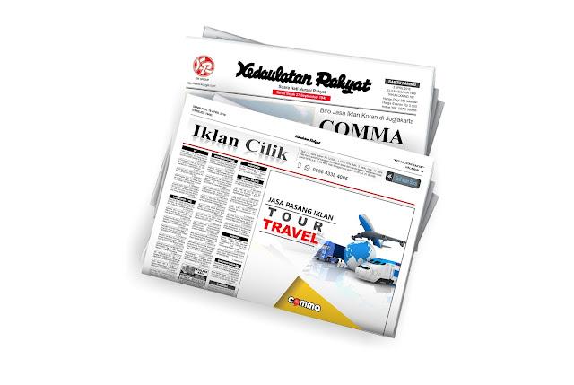 iklan Tour Travel di koran KR jogja