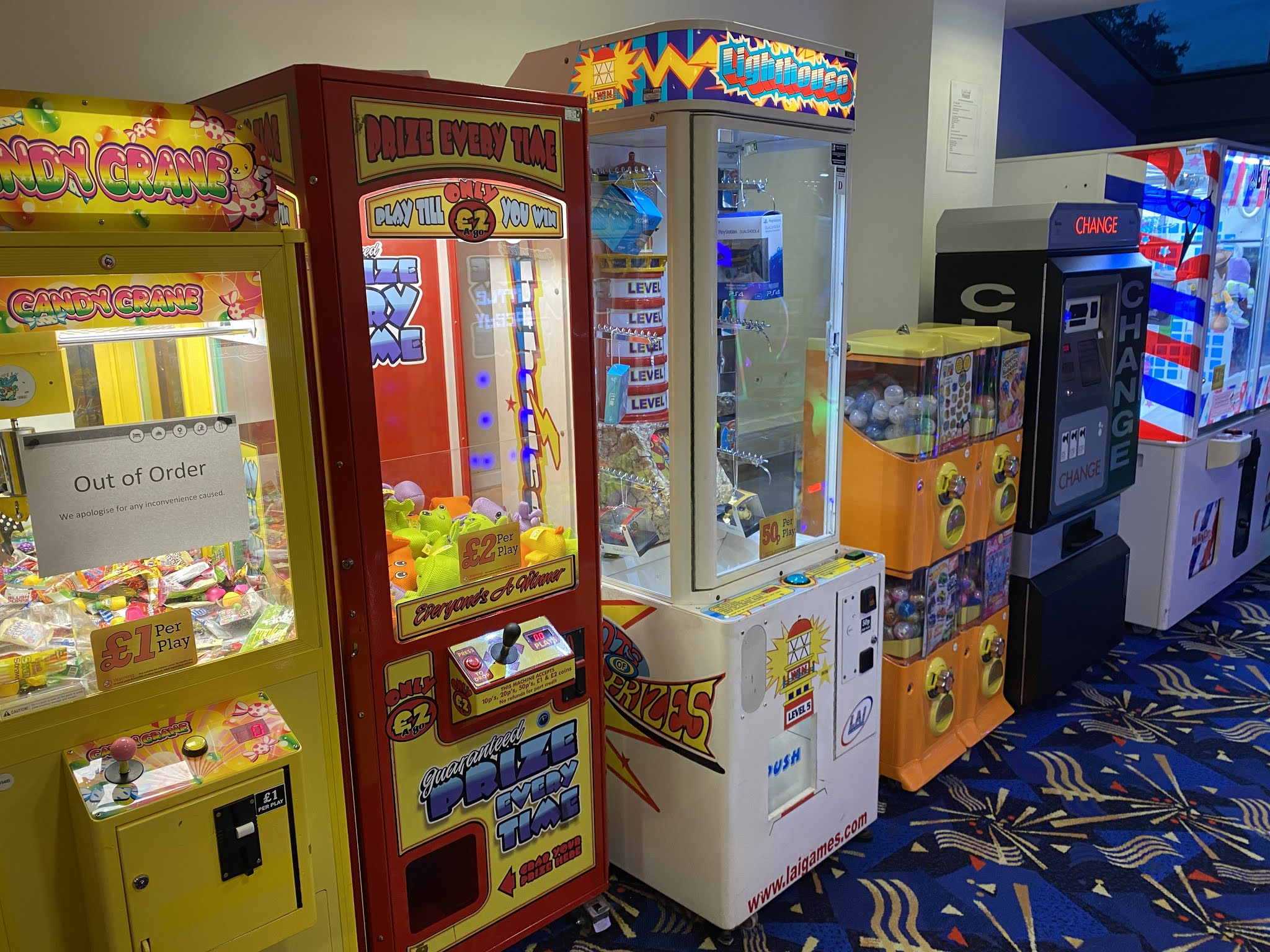 Arcade at the Drayton Manor Hotel