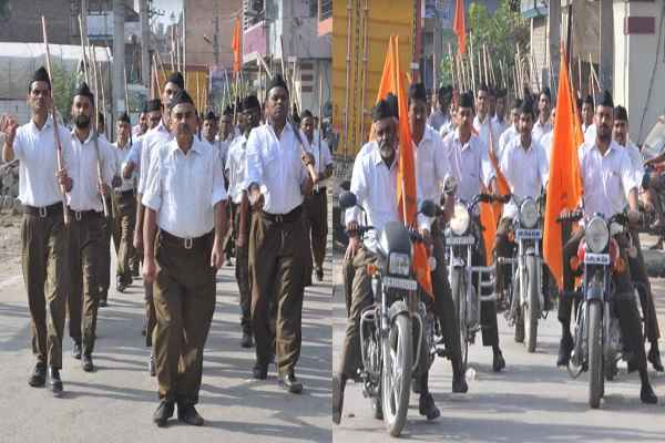 faridabad-rss-swayamsevak-pathsanchalan-on-vijayadashmi-news