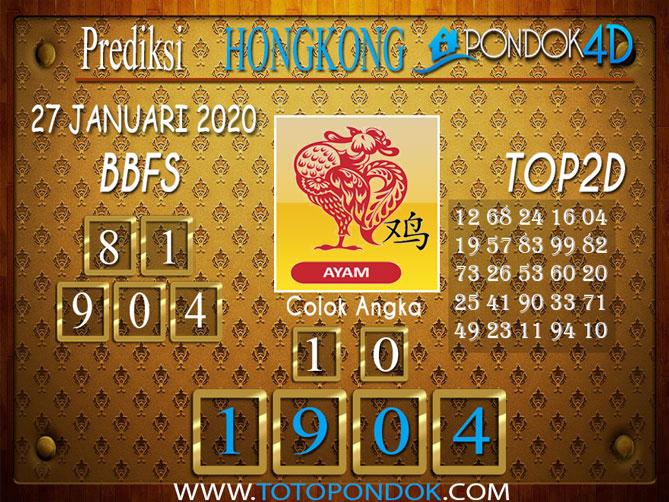 Prediksi Togel HONGKONG PONDOK4D 27 JANUARI 2020