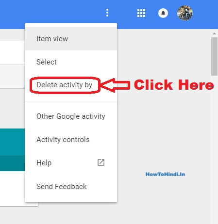how to delete recent searches on google