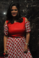 Shilpa Chakravarthy looks super cute in Red Frock style Dress 017.JPG