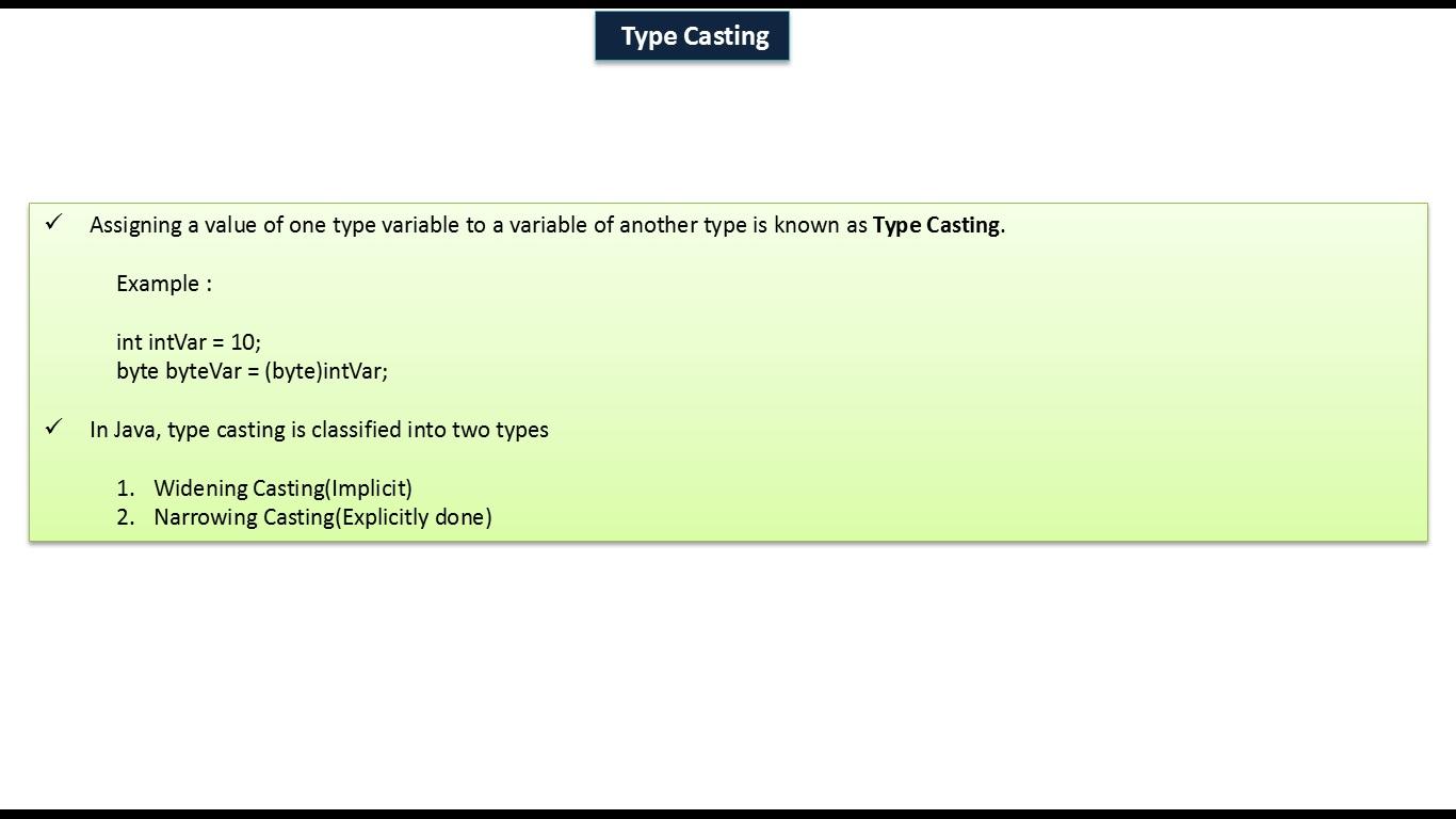 Java ee java tutorial java variable type casting java tutorial java variable type casting baditri Images