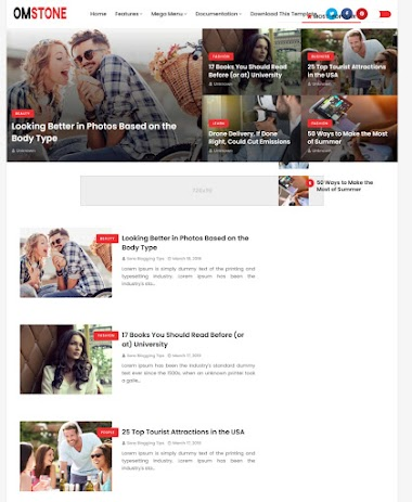 Omstone  Blogger Template Free Blogger Template  Without Copyright footer Credit