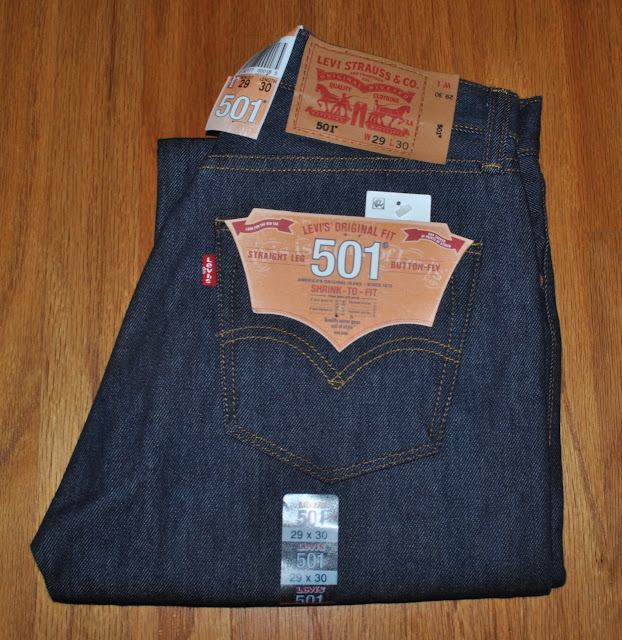Brand new Levis 501 Shrink to Fit Rigid with flasher and paper tag