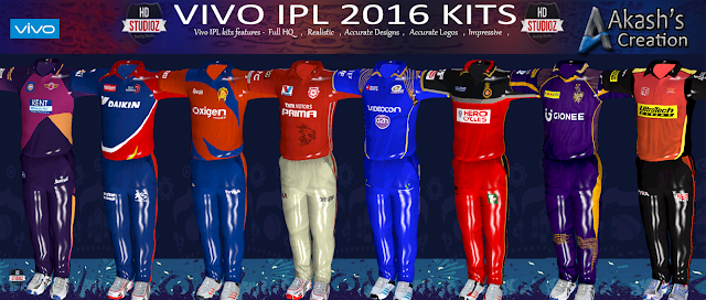 HD Studioz VIVO IPL 2016 Kits For Cricket 07