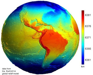 מרחק ממרכז כדור הארץ. מקור: Geodesy2000