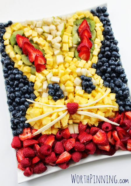 Bunny head fruit salad
