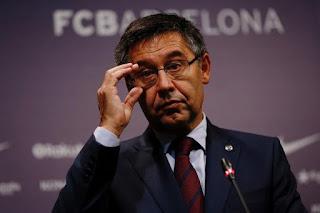 Barcelona President Bartomeu might resign on Monday