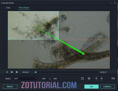 Efek Kamera Berjalan Pada Video Dengan Filmora 9