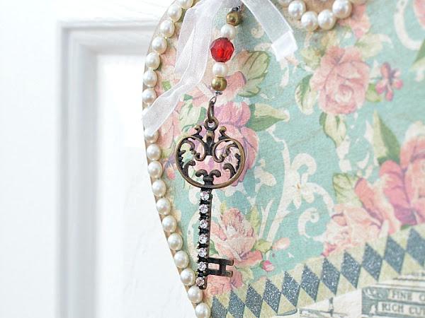 Vintage Style Valentine Door Hanger