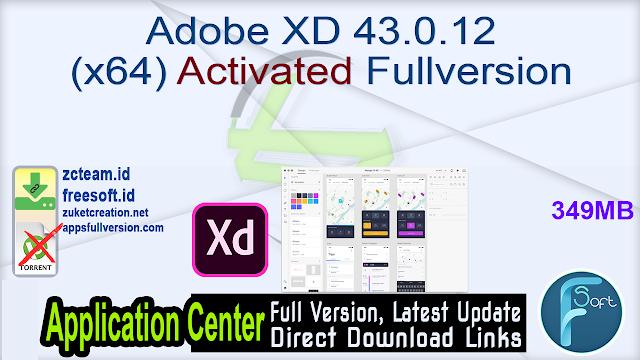 Adobe XD 43.0.12 (x64) Activated Fullversion
