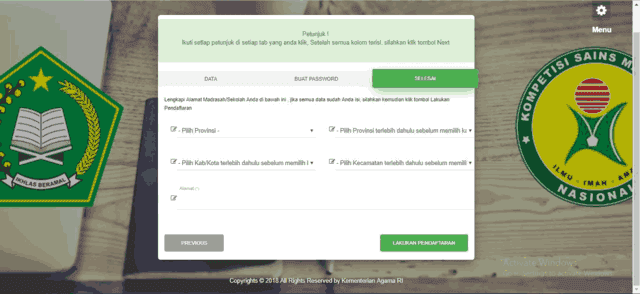 Panduan Cara Mendaftar Akun Madrasah KSM Kemenag 2019
