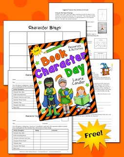 Book Character Day is a fun and educational way to sneak in a dress-up activity on Halloween! This freebie is CCSS aligned, too!