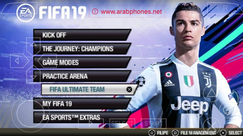 حصريا! تحميل لعبة FIFA 19 ISO تعمل على تطبيق PPSSPP (PSP)  للاندرويد