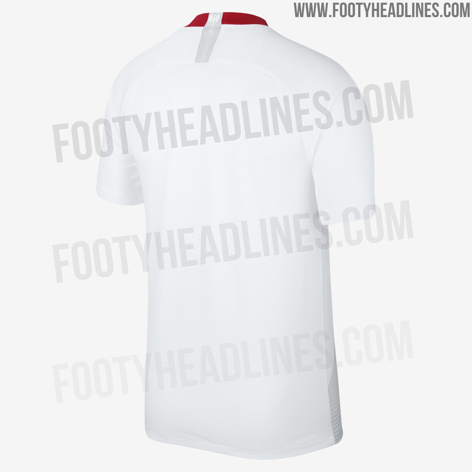 325bccc7c8d The Poland 2018 World Cup away jersey is red, based on the same template  and featuring the same graphic found on the home shirt. A clean look  overall, ...